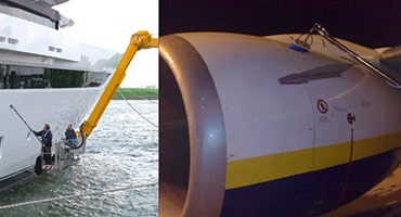 lavage d'avion et de bateau