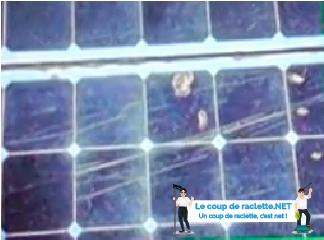 Panneaux solaires photovoltaïques rayés