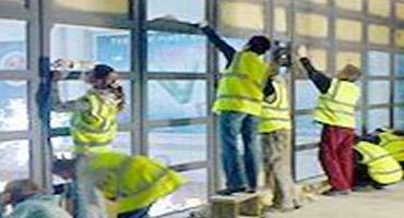 Nettoyage de vitres et chassis après travaux/chantier/construction/rénovation