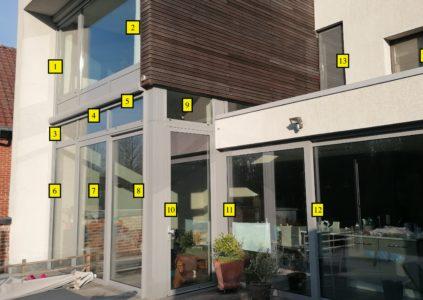 Comptage vitres