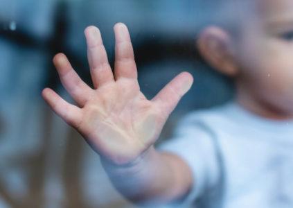 Trace de main sur vitres