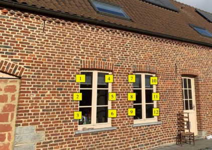 Compter vitres à croisillons