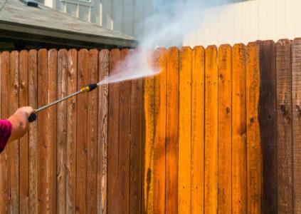 Nettoyage de clôture
