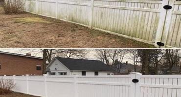 Nettoyage de clôtures à l'eau ultra pure