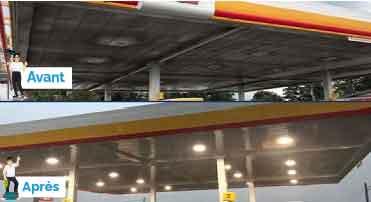station essence nettoyage de plafond de toiture