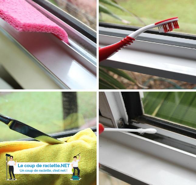 nettoyage de rainures de fenêtre